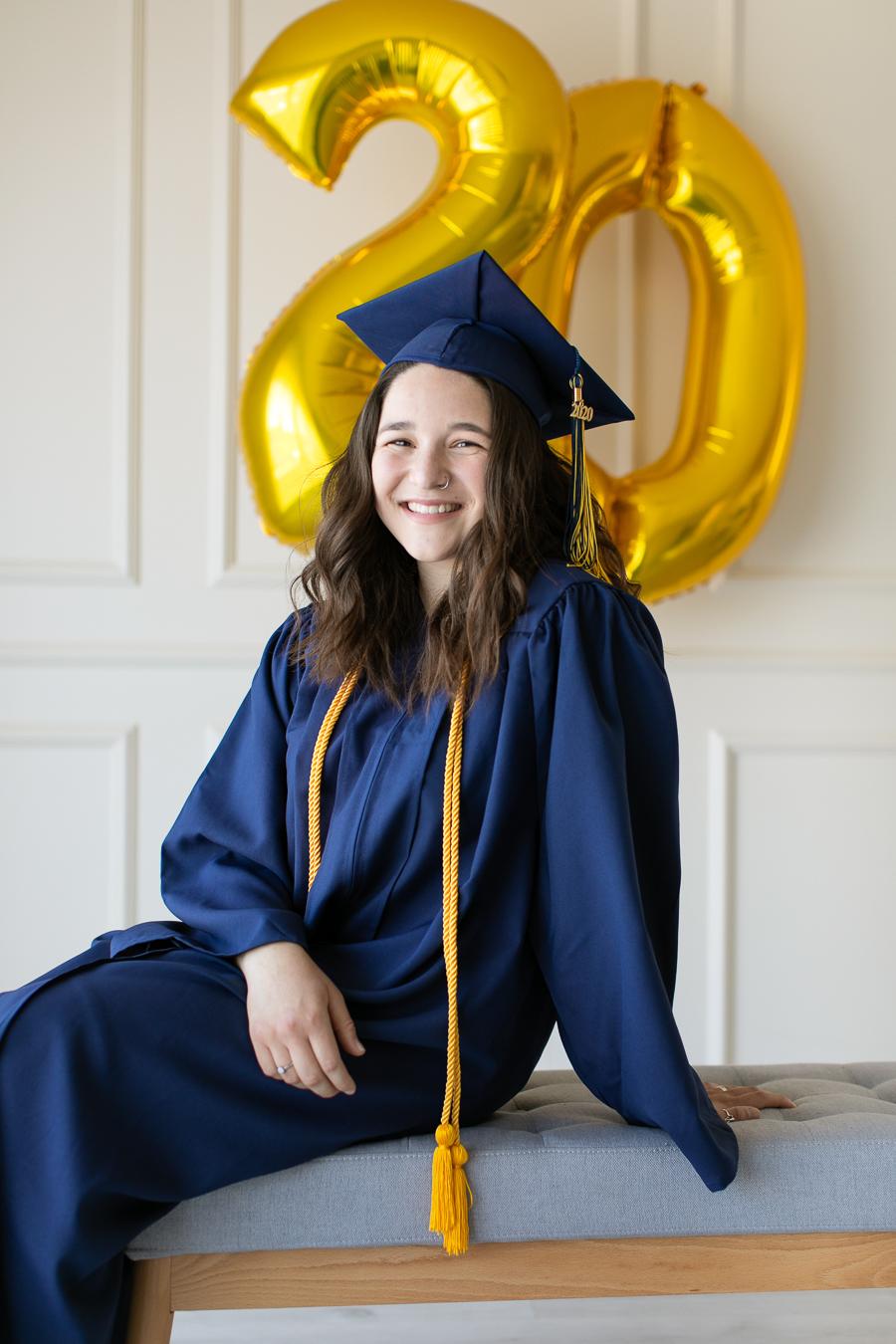 Graduation photos 2020 natural light studio