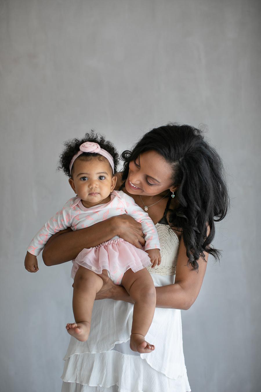 Mama and me photos OC natural light studio